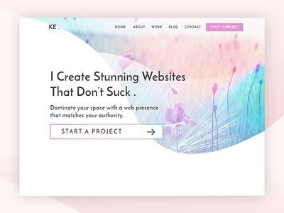 Hero Idea elegant pretty minimal web designer feminine web design hero