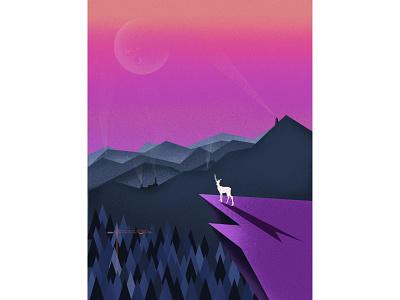 ANIMISM-The forest&deer illustration design