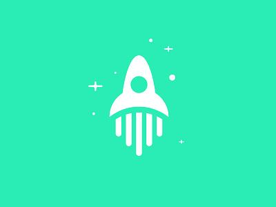 Pilott Logo stars spaceship space ship identity brand logo