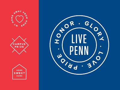 University of Pennsylvania Residential Services badge seal logo j2made philadelphia upenn