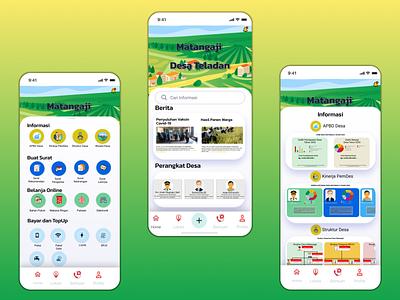 Transparancy of Country desa app vector design