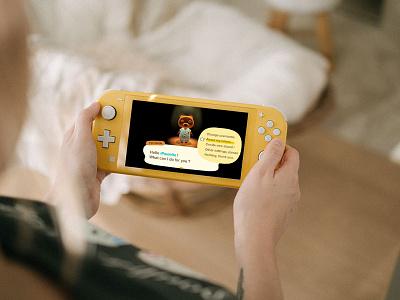 UI Daily 007 - Settings Animal Crossing New Horizons design user interface figma ui challenge acnh animal crossing user experience challenge gaming ux ui inspiration inspi ui daily