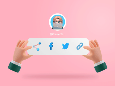 UI Daily 010 - Share Social Media 👀 illustration design user interface user experience ux ui ui challenge inspiration inspi