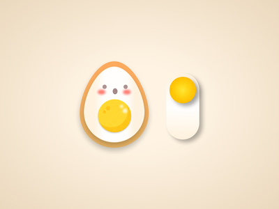 Daily UI 015 - Toggle Switch : Egg or Avocado ? by iPaulette 🥑 egg avocado mobile app ios switch toggle daily ui daily ui 015 logo illustration design user interface user experience inspi inspiration ui challenge ux ui