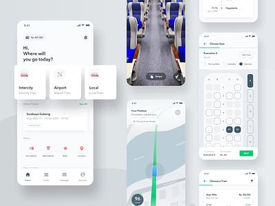 Exploration - Train Ticketing App Light Version white transportation subway booking ticket train branding app design clean mobile ios android app design ux ui