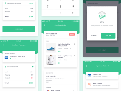 Online Store Checkout Page payment method checkout page e-commerce online store minimaldesign user interface user experience app design flatdesign mobile ux ios android uidesign flat app clean design uiux ui