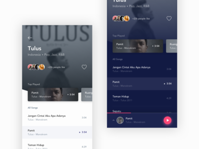 Music App - Mobile App Exploration dashboard iphone illustration typogaphy dailyui minimal card music music app app design mobile ux ios android flat uiux app clean design ui