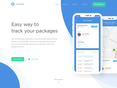 PastiSampai Tracking - Header Exploration fold flatdesign web minimalistdesign ux user experience mobile app design webdesign responsive uidesign flat uiux app design clean ui