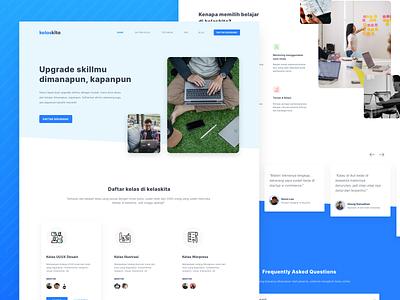 Landing Page - Online Course clean ui learning course landing webdesign responsive flat clean design ux ui
