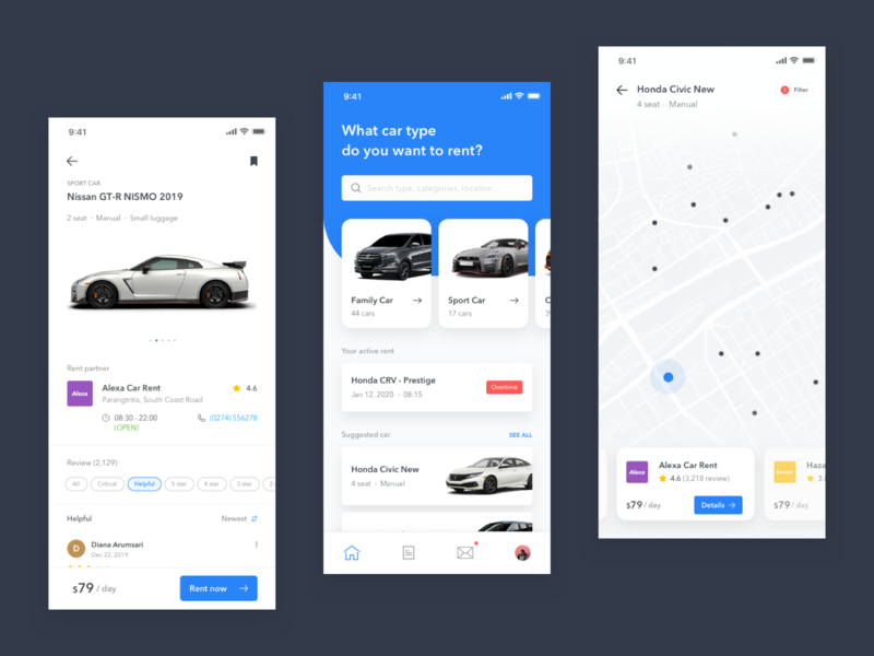 Mobile Exploration - Rental Car App
