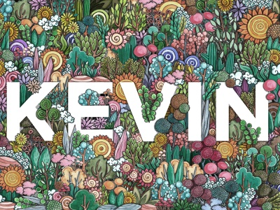 KEVIN_DOODLE ART typography illustration
