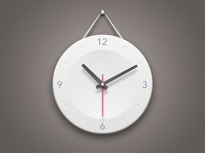 Wall Clock watch time iphone android app logo ios application graphic photoshop icon clock