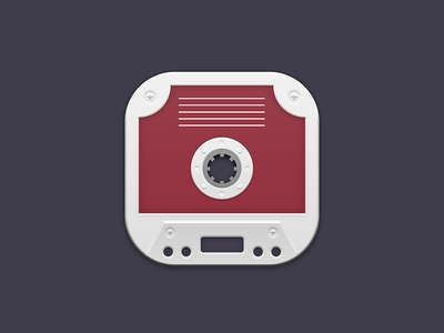 Cassette Tape iOS Icon graphic photoshop record player logo application app music android iphone ios icon