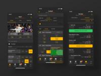 TotoSport App for iOS 2 design ux ui branding game gambling statistics adobe xd interface application mobile betting sport sportsbook uiux black dark ios app android