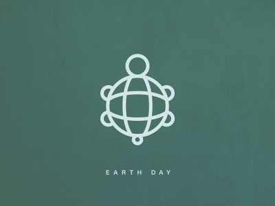 Earth Day lineart icon turtle design earth earthday
