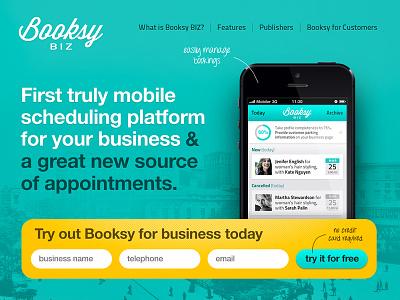 Booksy BIZ App Landing Page booksy saganowski sgnwsk saganowskico michael saganowski ios app