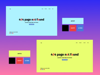 Design a 404 page ui typography design ux