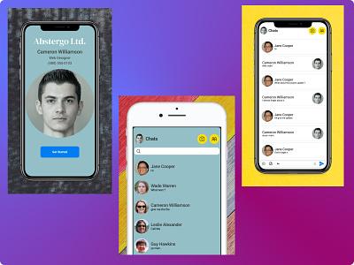 Direct Messaging app messaging color app ui ux design