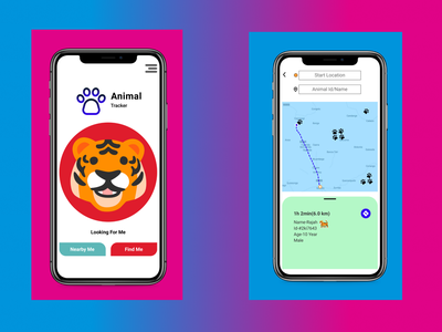 Location Tracker location tracker dailyui animal ux typography ui design