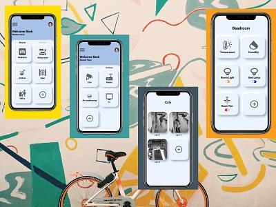 Home Monitoring Dashboard home monitoring dashboard app ux typography ui design