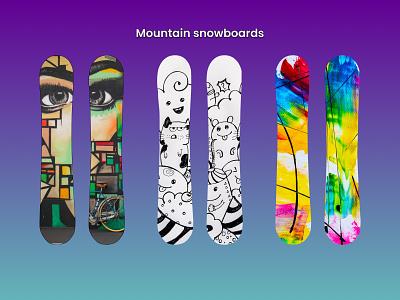 Snowboards mountain snowboards ui