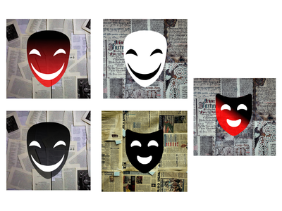 Anonymous mask logo vector design ui anonymous mask