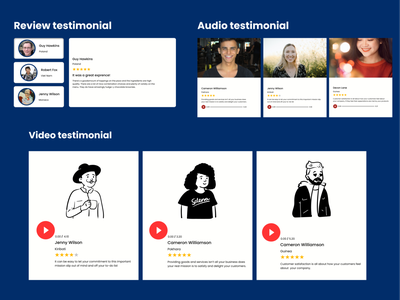 Testimonial testimonials daily ui 39 branding color typography ux design ui