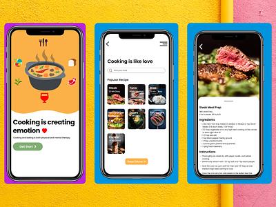 Recipe food daily ui 40 daily ui recipe branding color typography ux ui