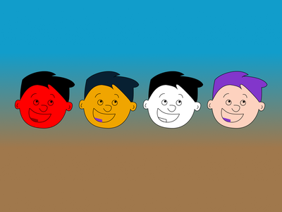 Smile face character cartoon illustration ui smile face