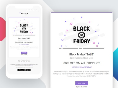 Black Friday Sale Email Newsletter clean design email mail newsletter sale shop black friday