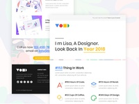 Year In Review Email for Designer