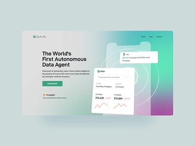 Gaia The World's First Autonomous Data Agent ui illustration design motion graphics logo graphic design branding appui animation 3d
