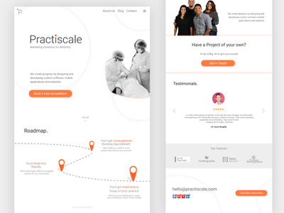 Dental Marketing Company Website ui illustration