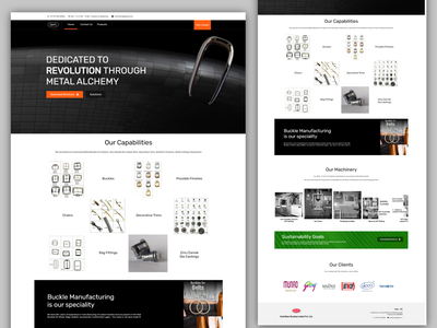Manufacturing Company Website website design ui