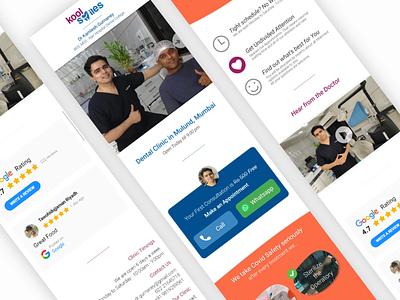 Dental Clinic Mobile Responsive Website