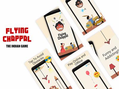 Flying Chappal - Indian Game Developed on Unity illustration game design ui
