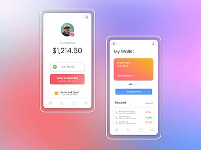 Mobile Banking App illustration design ui