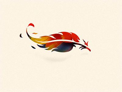 Color feather option logo mark