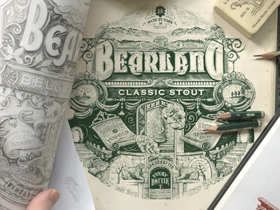 Tribute to Renaissance pencil lettering letters