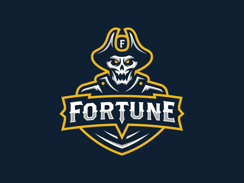undead pirate treasure hunter logo