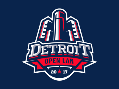 Detroit Open LAN 2017 2017 lan branding detroit badge michigan mes logo