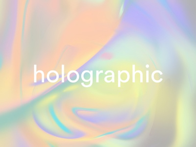 Holographic digital paint