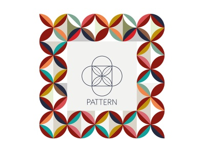 Pattern geometric logo graphic design pattern branding vector illustration design