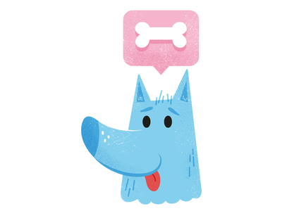 DoG bone dog children illustration character graphic design design vector illustration
