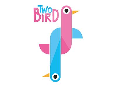 2BiRD cartoon bird branding logo children illustration character graphic design design vector illustration
