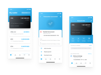 Storiqa Wallet Mobile App iphone x iphone app crypto currency crypto exchange cryptocurrency crypto wallet wallet app ios app uiux ux ui