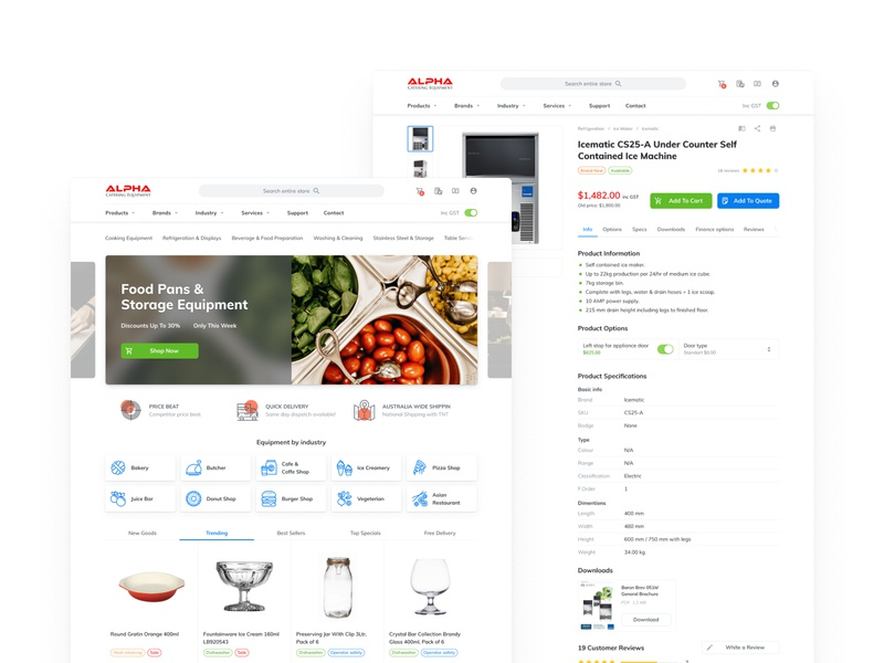 Alpha Catering - Home & Product Page