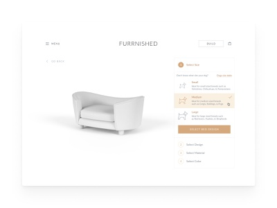 Furrnished - Bed Constructor For Dogs steps ecommerce store constructor dogs figma site web white design redesign uiux ux ui