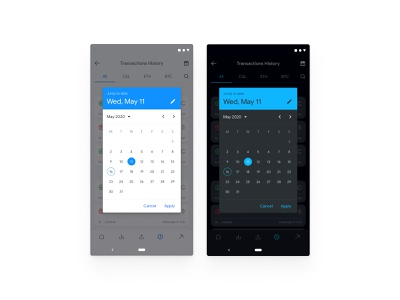 Materal Design Calendar Redesign google material android app android figma app design uiux redesign ux ui