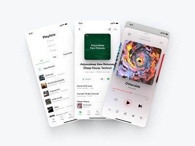 MeMusic Mobile App Design white clean ios app design redesign uiux ux ui